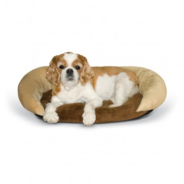 Self-Warming Bolster Bed chocolate/tan