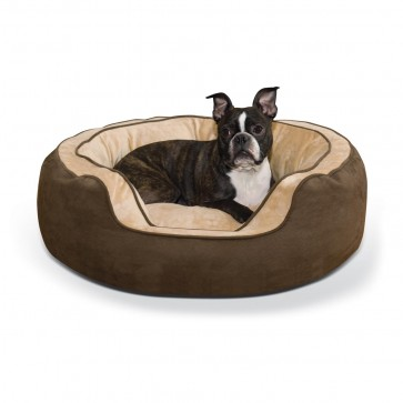 Round n' Plush Bolster Bed chocolate/tan
