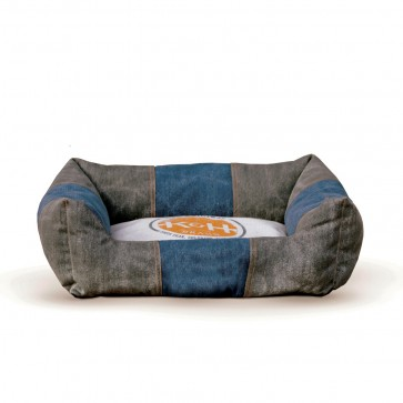 K&H Logo Lounger Gray/Blue with Original Logo