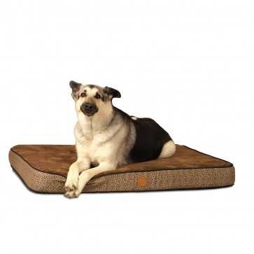 K&H Superior Orthopedic Bed mocha paw bone