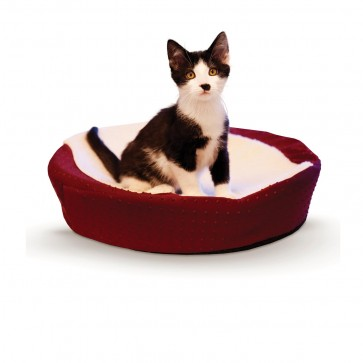 K&H Ultra-Memory Round Cuddle Nest red
