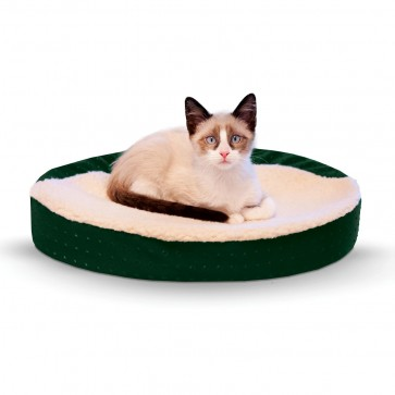 K&H Ultra-Memory Oval Cuddle Nest green