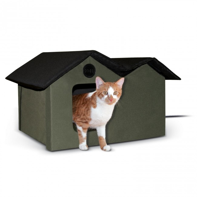 outdoor kitty house extrawide - Heated Pet Beds