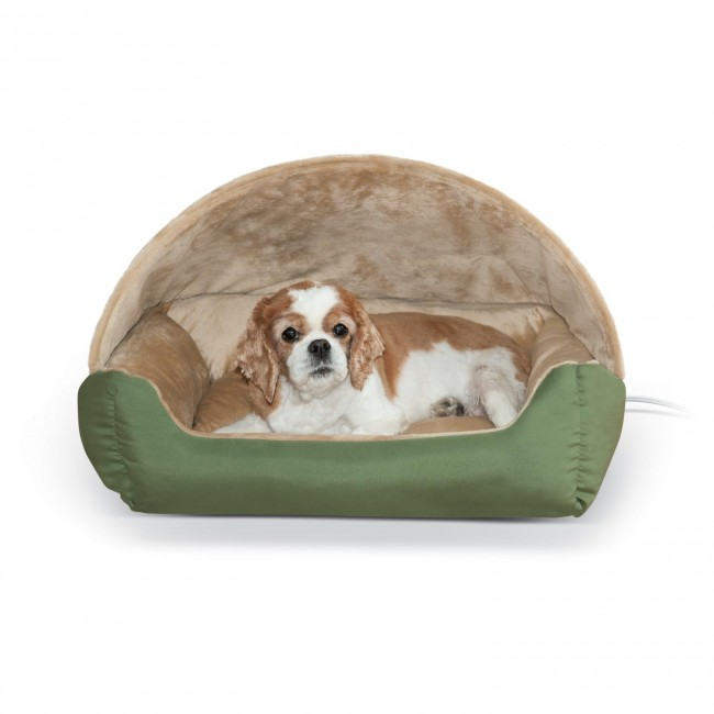 K Amp H Thermo Hooded Lounger Bed