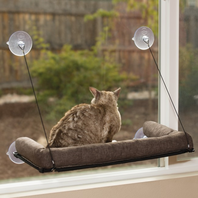 Ez Mount Kitty Sill Deluxe With Bolster