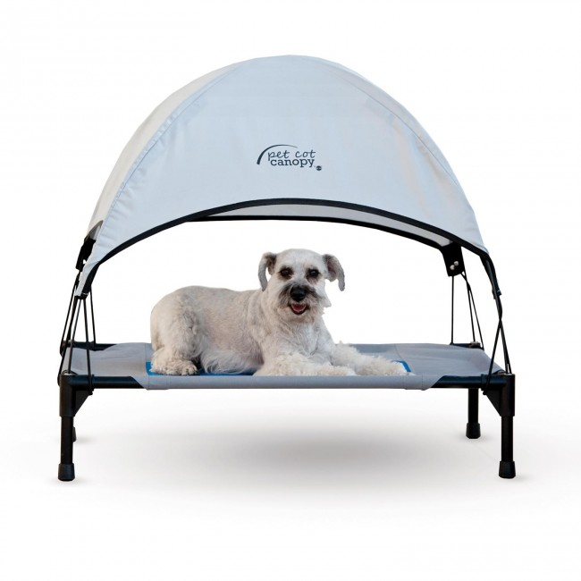 pet cot canopy gray with coolinu0027 gel pet cot sold separately