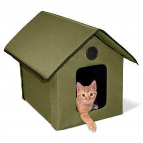 K&H Outdoor Kitty House olive