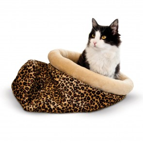 K&H Self-Warming Kitty Sack leopard