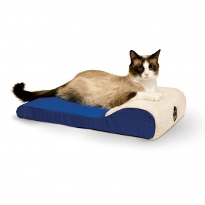 K&H Ultra Memory Chaise Lounger blue