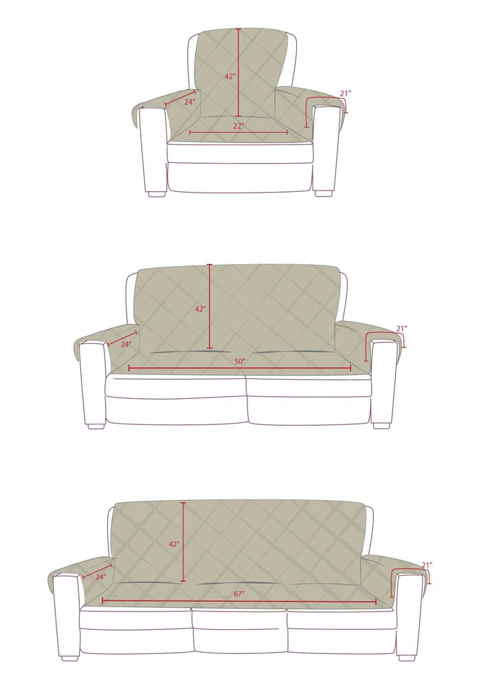 K&H Furniture Covers dimensions